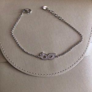 Sterling silver bracelet, Roma 1947, adjustable